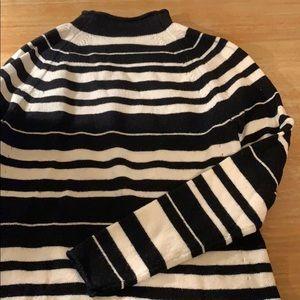GAP striped turtleneck sweater